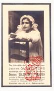 DP Communie Foto Jeanne Guldentops / Verheyen 11j. ° Mortsel 1926 † Oostende 1937 - Images Religieuses