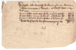Facture Manuscrite/Commande De Chaussures/Lefrançois Armateur GRANVILLE/David, Bottier, La Haye Pesnel/Vers1860    MAR50 - Verkehr & Transport