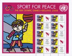 UN New York S25 Beijing Sports For Peace (purple Band) (2008), MNH / United Nations - New-York - Siège De L'ONU