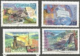 Sc. #1199-1202 Exploration Of Canada, Set 3 Used 1988 K295 - 1952-.... Règne D'Elizabeth II