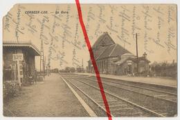 PostCard - Korbeek-Lo - Corbeek Loo - La Gare Bahnhof Station - Ca. 1915 - Bierbeek