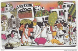 MEXICO - Arte Ilustrativo/Viveros(5/6), Chip SC7, 03/97, Used - Mexico
