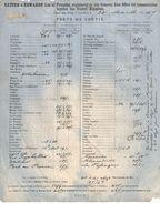 Frêt Maritime 2 Volets/Batten & Edwards/Frêts De Sortie-Frêts De Retour/LONDRES/Beyond Uniled Kingdom/1867    MAR51 - United Kingdom