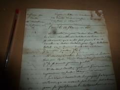 Le 13 Pluviose An 13e :AFFAIRE Chevallereau Débitant De TABAC à Niort Et H. Maixaut---> Saisie Pour Tromperie, Etc - Manuscrits