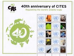 UN New York S52 40 Years CITES Personalized Sheet (2013), MNH / United Nations - New York -  VN Hauptquartier