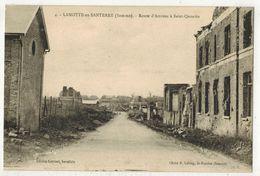 LAMOTTE En SANTERRE MILITARIA GUERRE 14/18 : Route D'Amiens à St Quentin - Après Les Bombardements Allemands - France