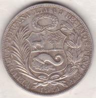 Perou. 1 Sol 1914 FG . Argent . KM# 196.26 - Pérou