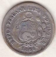 Perou. 1/5 Sol 1866 YB . Argent .KM# 191 - Pérou