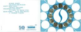 Carte De Voeux/ Calendrier. SABENA. 1923-1973. Jubilé 50 Ans De SABENA. - Publicités