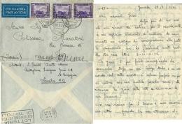 AEROGRAMMA COLONIE POSTA MILITARE 123 S 1936 HARRAR ETIOPIA X FIRENZE - Posta Militare (PM)