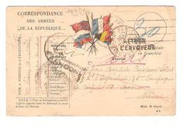 Correspondance Armées République CP Datée 10/9/1914 C.Paris / Dijon Griffe Inconnu Pour Militaire PR5117 - Marcophilie (Lettres)