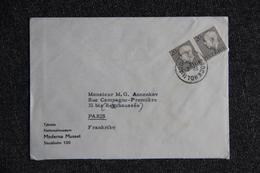 Lettre De SUEDE Vers FRANCE - Lettres & Documents