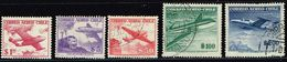 Chile 1956/55, Michel# 509x, 511y, 514x, 501, 502 O - Chile