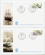 GREENLAND 1994 Ships' Figureheads On FDCs.  Michel 252-53 - FDC