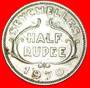 √ GREAT BRITAIN: SEYCHELLES ★ 1/2 RUPEE 1970! LOW START ★ NO RESERVE! - Seychelles