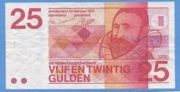 HOLLANDE 25 GULDEN DE 1971 - [2] 1815-… : Kingdom Of The Netherlands