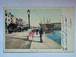 DALMAZIA Dalmatia Croazia Croatia SPLIT SPALATO  Pescatori  Barca  Animata AK Postcard - Croazia