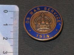 "BADGE - ""ON WAR SERVICE "" - N° 035727 - Vaughton Ltd - Birmingham - 1914-18"