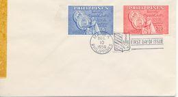 Centº De L'Athénée De Manile 1959 FDC Philippines Yvert 493/4 - Philippines