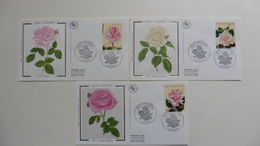 France :FDC : Roses Anciennes 1999 :1 Er Jour :3 Enveloppes   N°3248/50 - 1990-1999