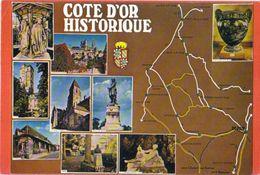 Côte D'Or Historique.Carte Et Multivues - France