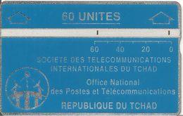 CARTE MAGNETIQUE-TCHAD-60U-BLEU-V° N° En Bas A Droite Endroit-903C11845-TBE-RARE - Chad