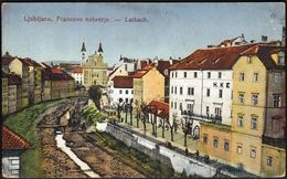 Slovenia Ljubljana Francovo Nabrezje / Laibach / Franco Quay / Franciscan Church - Slovenië