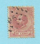 Netherlands - 1872/88 10c Rose - Sc#24 - FU - S.432 - Used Stamps