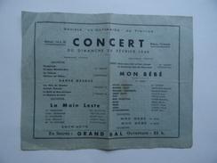 45 La GÂTINAISE De TREILLES Affiche Ou Programme CONCERT 1946 - Affiches