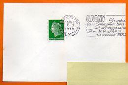 93 GAGNY  TAXIS DE LA MARNE  1974 Lettre Entière N° JJ 84 - Postmark Collection (Covers)