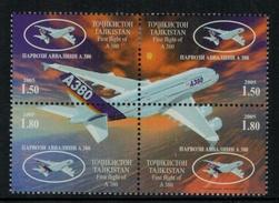 Aviation // Tadjikistan // Poste Aérienne 2005 , Timbre Neufs **/*  No. Y&T 284-287 - Flugzeuge
