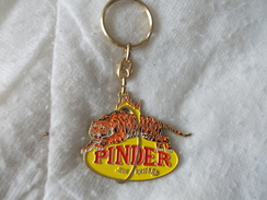 Porte-clefs Cirque Pinder Jean Richard Avec Tigre - Key-rings