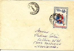 Romania Cover Sent To Czechoslovakia 22-11-1987 Topic Stamp Handball - Handball