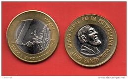 EUROS PRUEBA -  VATICANO -  1 EURO. Beato Padre Pio  - PRUEBA - EURO