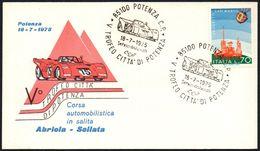 MOTORING - ITALIA POTENZA 1975 - CORSA AUTOMOBILISTICA IN SALITA - V TROFEO CITTA' DI POTENZA - Cars