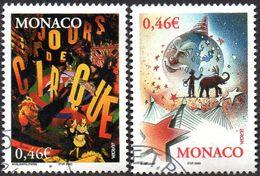 Monaco Obl. N° 2347 Et 2348 Cept-Europa Le Cirque - Monaco