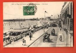 GAQ-34  Les Sables-d'Olonne  Plage Et REmblais. ANIME. Cachet Frontal, Circulé 1913 - Sables D'Olonne