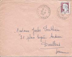 TOURTERON ARDENNES 1961 MULLER 0.25F Pour Doullens - Poststempel (Briefe)
