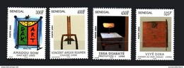 SENEGAL 2004  DAK'ART DAKART DAKAR ART 1995 CHAISE PROTOTYPE 1 1996 CHOSES AU MUR 1998  - FULL SET - RARE -  MNH ** - Senegal (1960-...)