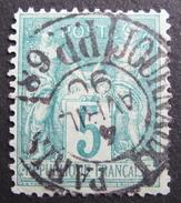 LOT R1537/61 - SAGE Type II N°75 SUPERBE CàD DES IMPRIMES PARIS PP68 4 AVRIL 1890 - 1876-1898 Sage (Type II)