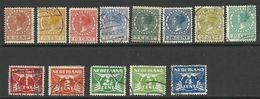 Netherlands - 1924/25 Queen Wilhelmina DEfinitives - Sc#142/159 - FU - S.469 - Oblitérés