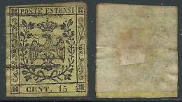 1852 DUCATO DI MODENA USATO AQUILA SENZA PUNTO 15 CENT - AS1-4 - Modena