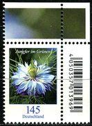 BRD - Michel 3351 ECKE REO - ** Postfrisch (E) - 145C   Blumen, Jungfer Im Grünen, Ausgabe: 02.01.2018 - [7] West-Duitsland