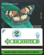 SIERRA LEONE 50u Papillons MINT NEUVE SLNTC URMET Butterfly Butterflies Papillon - Sierra Leone