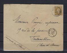 N°32 GESTEMPELD Tournai OP OMSLAG NAAR Frankrijk SUPERBE - 1869-1883 Leopold II