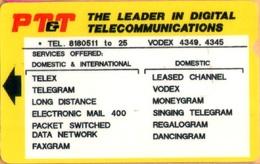 Philippines - Philippine Telegraph And Telephone (PT&T), Alcatel, Test 2.000 Peso, Used - Philippines