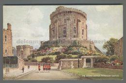 V2515 WINDSOR CASTLE THE ROUND TOWER Berkshire ILLUSTRATION VG FP (m) - Windsor Castle