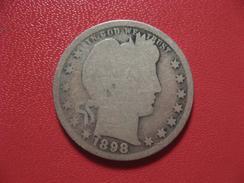 Etats-Unis - USA - Quarter Dollar 1898 6873 - Federal Issues