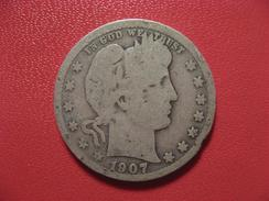 Etats-Unis - USA - Quarter Dollar 1907 O 6900 - Federal Issues