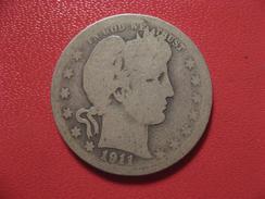 Etats-Unis - USA - Quarter Dollar 1911 6906 - Federal Issues